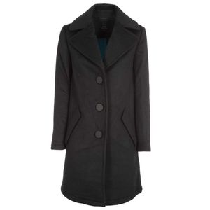 Long coat with maxi buttons
