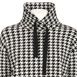 Adjustable high neck sweatshirt