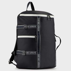 Backpack with logo tape