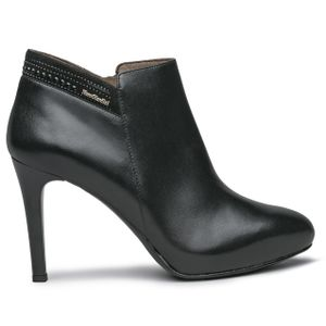 Nappa ankle boot with stiletto heel