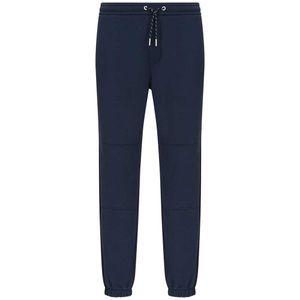 Sporty blue fleece cotton trousers