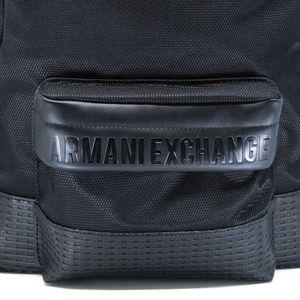 Black multipocket backpack with logo