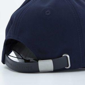 Blue baseball cap with logo