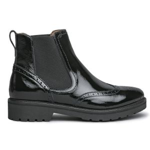 Classic black patent leather Beatles
