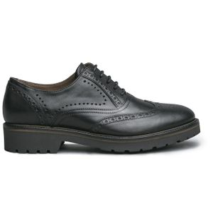 Black lace-up in matt leather