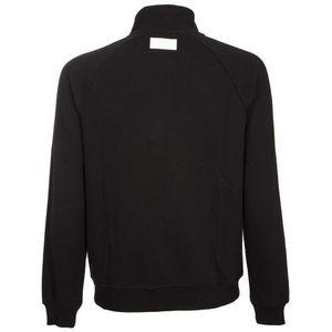 Sweatshirt with zip and high collar