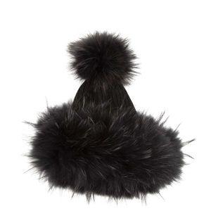 Cuffia in pelliccia di volpe
