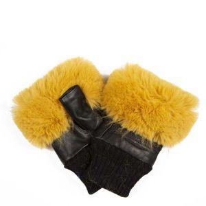 Fingerless gloves in faux fur
