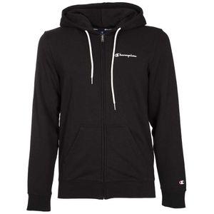 Comfort fit sweatshirt with zip and hood