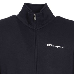 High neck sweatshirt with full zip and logo