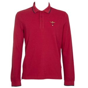 Long-sleeved polo shirt with logo