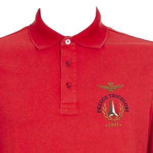 Long-sleeved polo shirt in cotton jersey