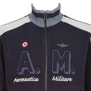 Sweatshirt with zip with embroidered logo