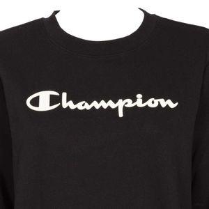 Sweatshirt with rubberized embossed logo
