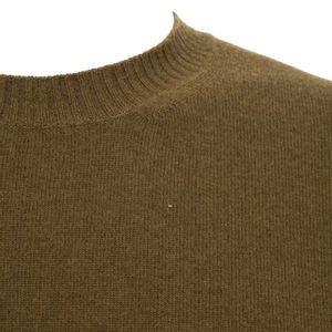 Tricolor pullover in virgin wool and cashmere