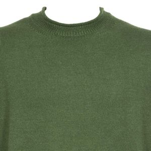 High neck pullover in virgin wool