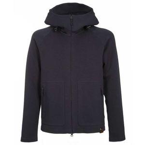 Hooded scuba sweatshirt