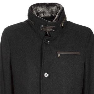 Melange coat lined with Milestone Adam
