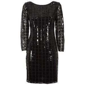 Short dress in sequins