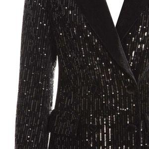 Black velvet jacket with sequins