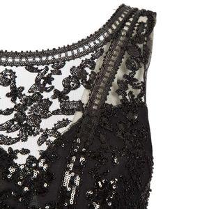 Black dress with lace and rhinestone bodice