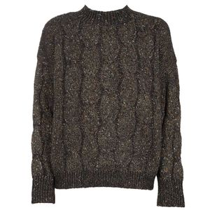 Cable sweater with lurex