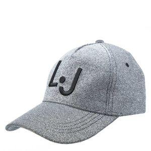 Cappello con glitter e logo