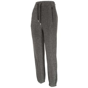 Glitter jogger trousers with laces
