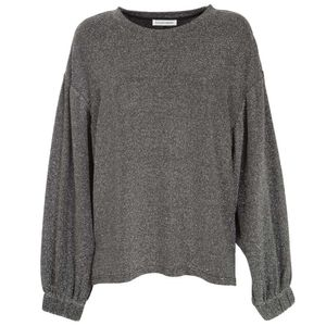 Oversized sweater with glitter