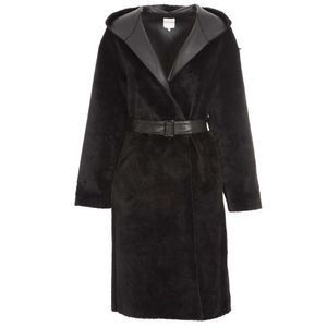 Soleil coat in eco leather with strap