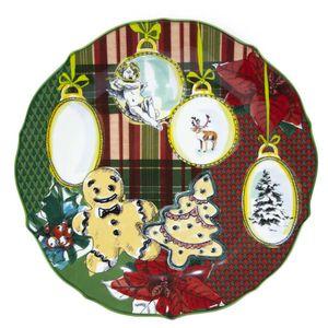 Xmas Tartan serving plate