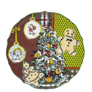Xmas Tartan cake plate
