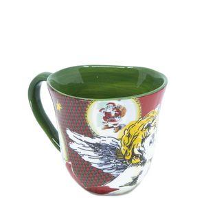 Maxi mug in Xmas Tartan printed ceramic