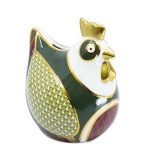 Xmas Tartan ceramic piggy bank