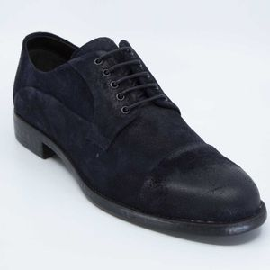 Used effect suede lace-up