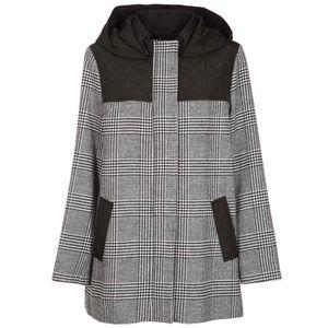 Napea checked coat with hood