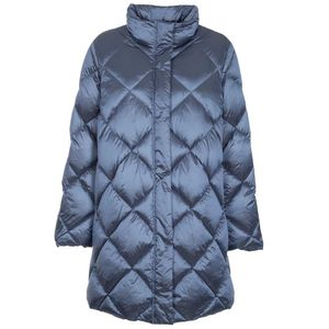 Word quilted jacket with diamond pattern