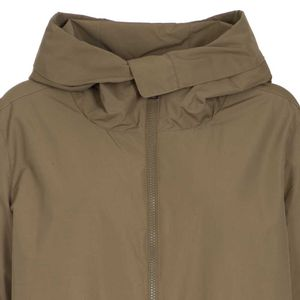 Cotton parka with adjustable waist