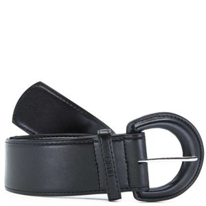 Black belt in coated faux leather