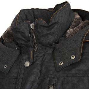 Rainseries jacket with faux fur