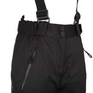 Pantalone da sci nero con logo argentato