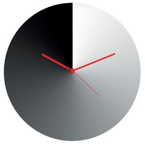 Wall clock in stainless steel