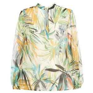 Curvone ethnic shirt in silk blend