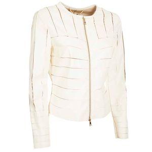 White jacket with Alvaro inlays