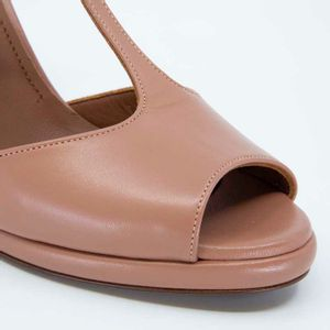 Open-toe sandal with heel