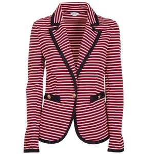 Striped jacket with single button