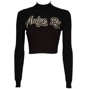Black Top Lit sweater with logo