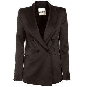 Kate double-breasted jacket in black