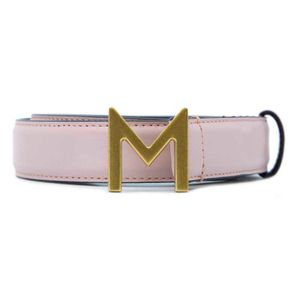 Dresden belt in logo leather