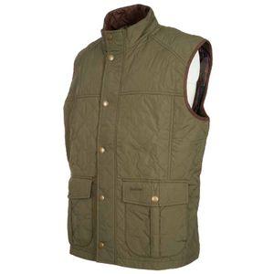 Explorer green quilted vest